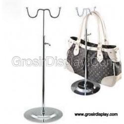 Gantungan Tas Stainless Display Hanger Toko Butik model W