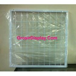 Display Kotak Jaring Ram Gantungan Aksesoris 50x50 cm Perlengkapan Toko Handphone
