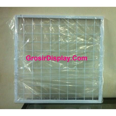 Display Kotak Jaring Ram Gantungan Aksesoris 50x50 cm