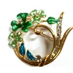 Bros Bunga Batu Berlian Kelap-Kelip Aksesoris Hijab