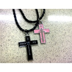 Kalung Salib Couple Single Aksesoris Korea