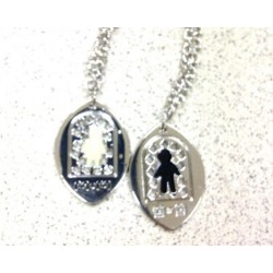 Kalung Couple Simbol Unik Aksesoris Korea
