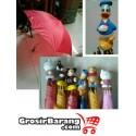 Payung Anak Handle Kartun Donald Bebek Hello Kitty Mickey Mouse
