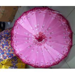 Payung Satin Bunga Besar Panjang Shabby