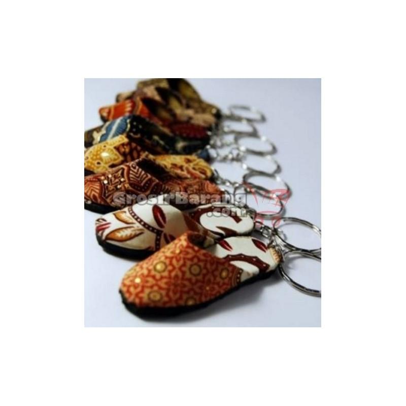 Gantungan Kunci Sandal Batik Souvenir Jogja Indonesia ...