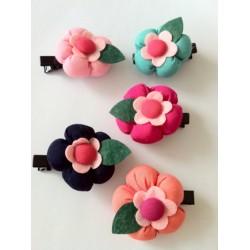 Aksesoris Rambut Fashion Korea Jepit Rambut Bunga Chubby Import